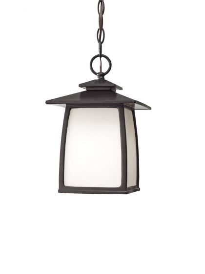 Sea Gull Lighting Wright House Outdoor Hanging Lantern in Oil Rubbed Bronze