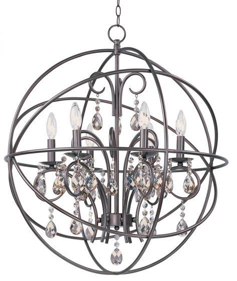 Maxim Lighting Orbit 6-Light Chandelier - Oil Rubbed Bronze