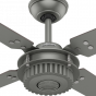 """Hunter Chronicle 54"""" Indoor/Outdoor Ceiling Fan in Matte Silver"""