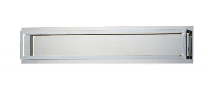 "Avalon Polished Chrome Bathroom Vanity Ceiling Lights: ET2 Lighting 4 Square 24.75"" LED Bathroom Vanity Light In"