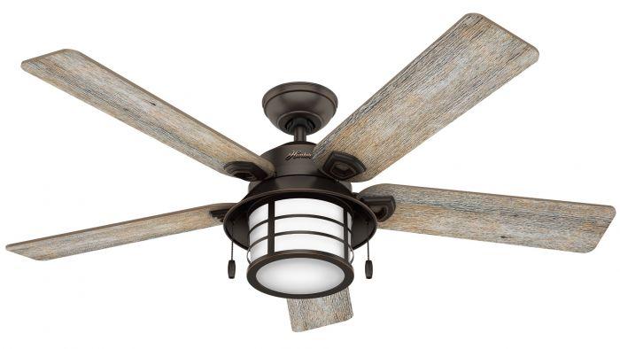 """Hunter Key Biscayne 54"""" Indoor/Outdoor Ceiling Fan in Onyx Bengal"""