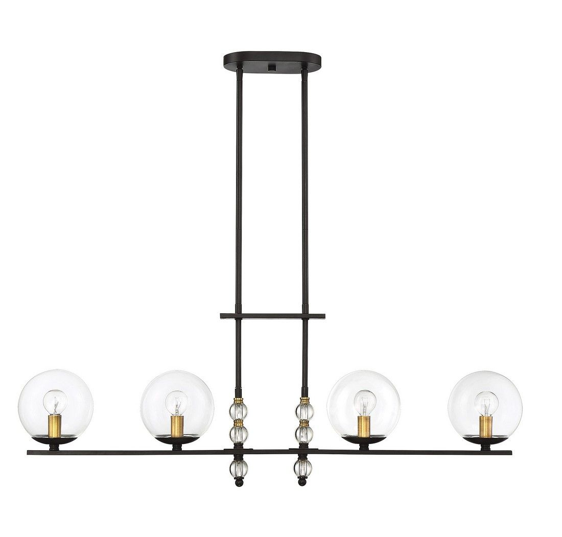 Piedmont 4 Light Island Pendant In English Bronze Br