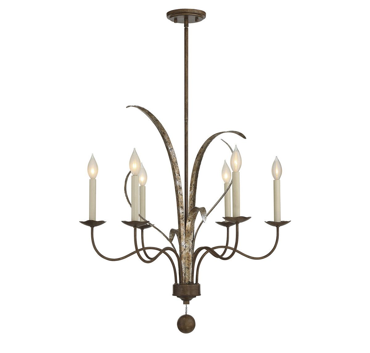 Piedmont 6 Light Chandelier In Fiesta Bronze