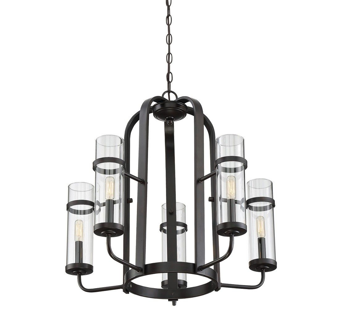 Savoy house tulsa 5 light chandelier in english bronze 1 6061 5 13 2 jpg