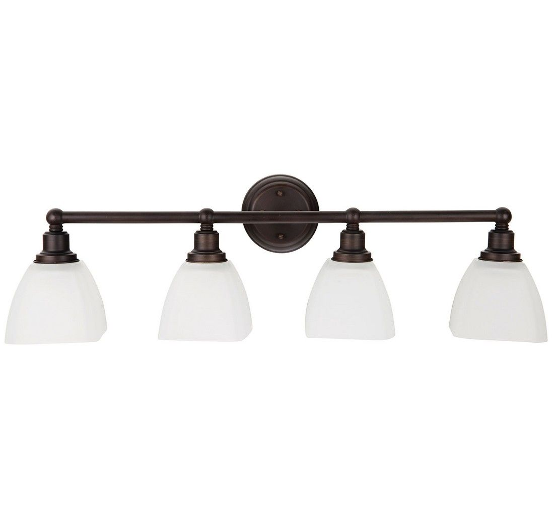 Craftmade Bradley 32 63 Quot White Frosted 4 Light Vanity