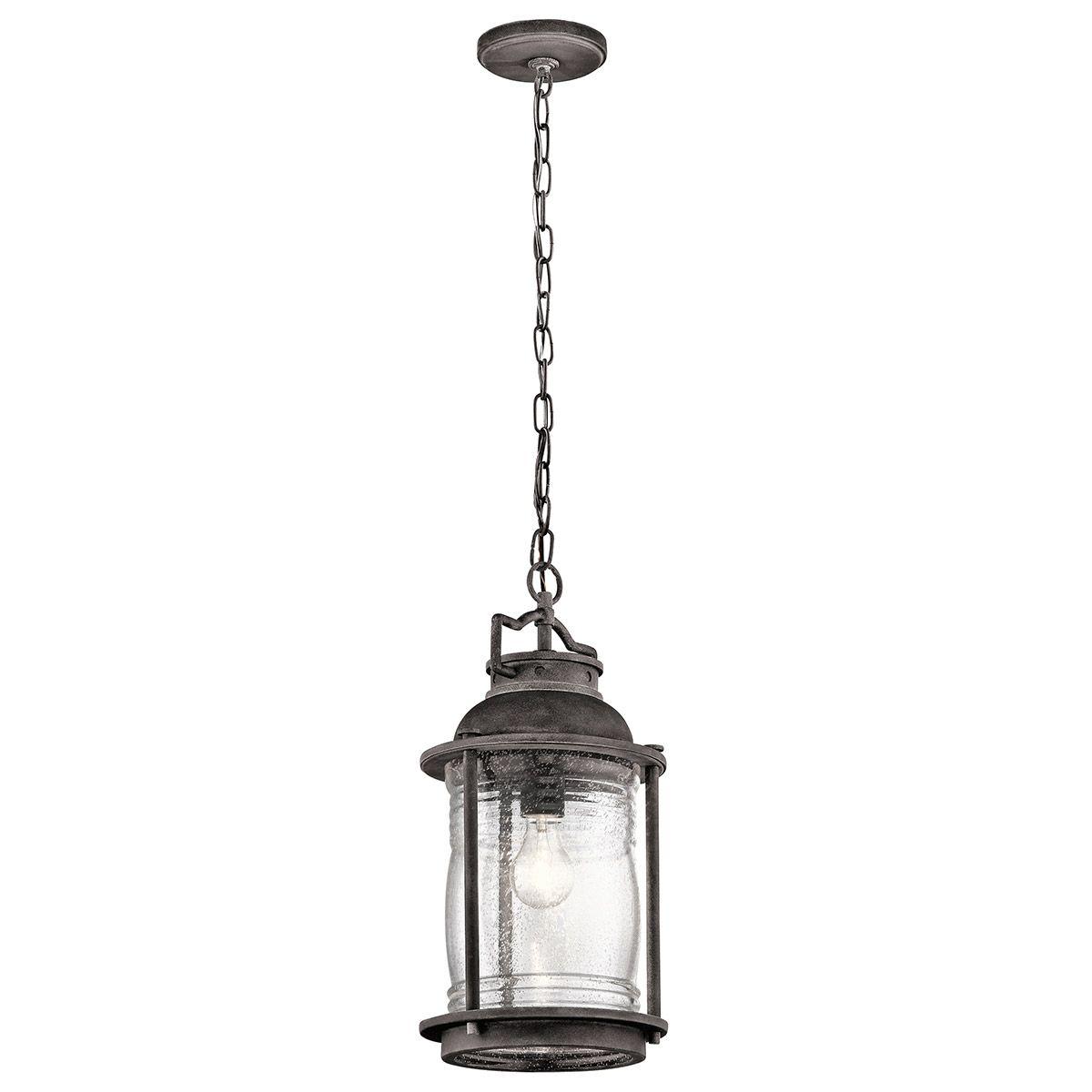 Kichler Ashland Bay Outdoor Pedestal Lantern Weathered: Kichler Ashland Bay Outdoor Hanging Pendant In Weathered