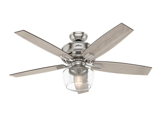 Hunter Bennett 52 Quot Led Indoor Ceiling Fan In Brushed