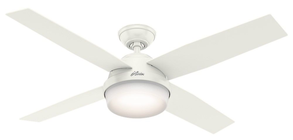 Hunter Dempsey 52 Led Indoor Outdoor Ceiling Fan In White Tap To Expand