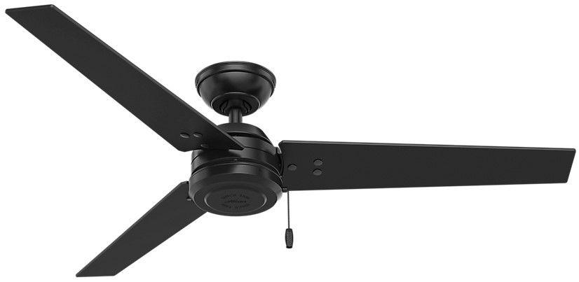 Hunter Cius 52 Indoor Outdoor Ceiling Fan In Black