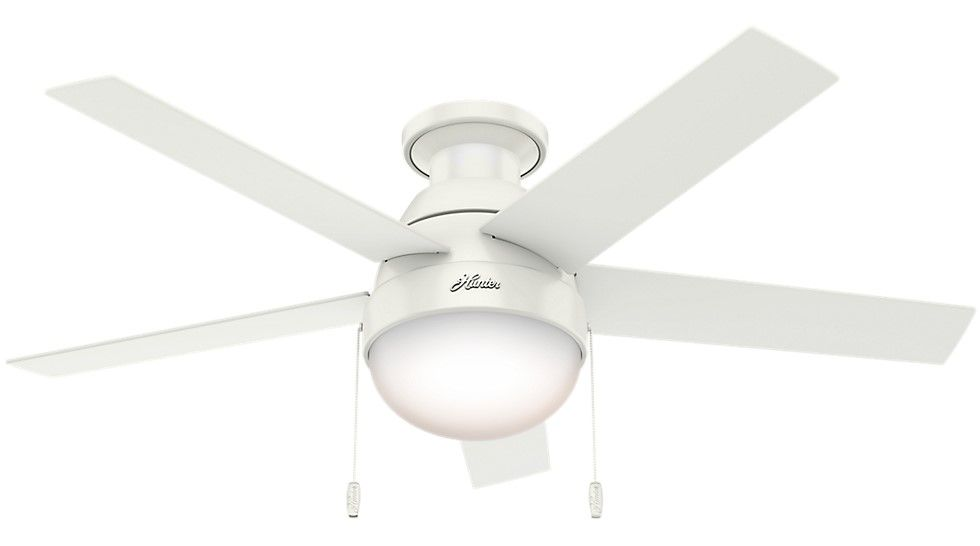 Low Profile Indoor Ceiling Fan In White Tap To Expand