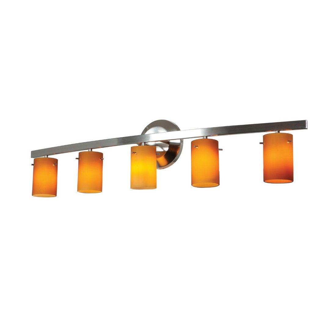 Access Lighting Sydney 7 5 Light Amber Gl Bath Vanity In Chrome