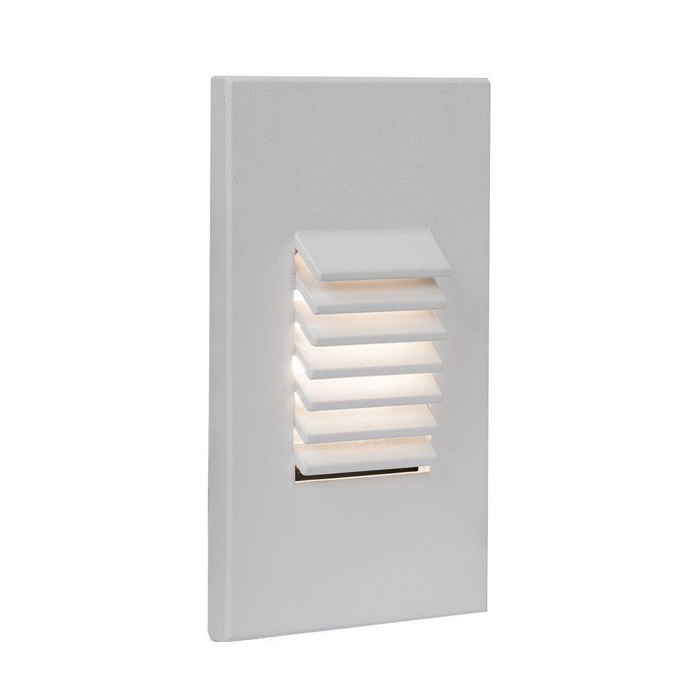 Wac Lighting 1 Light Led Low Voltage Vertical Louvered Step And Wall In White