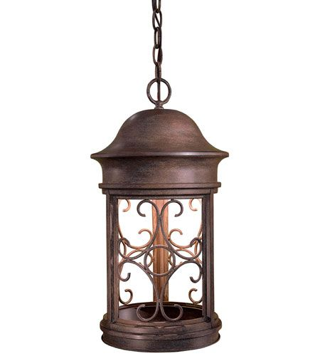 The Great Outdoors Sage Ridge 1 Light Chain Hung In Rust Outdoor