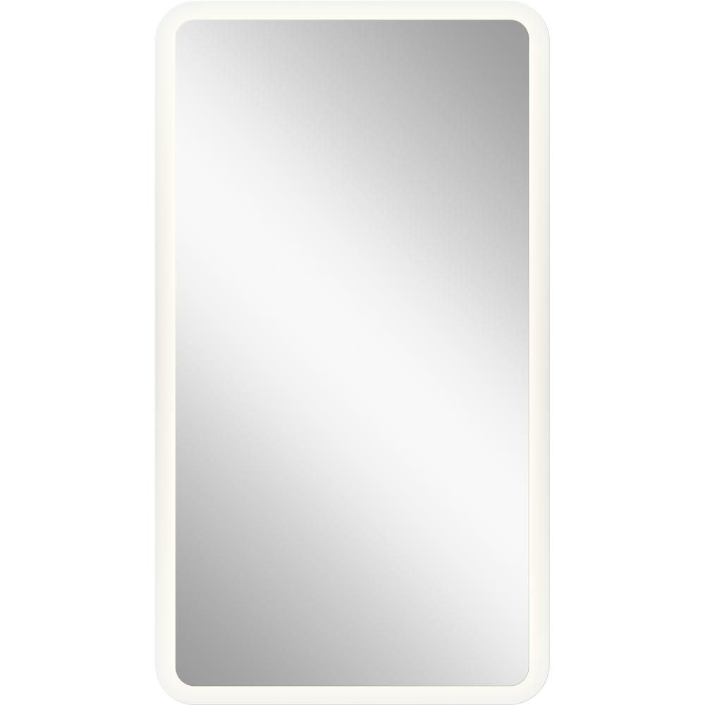 Elan Mir 35 5 Quot Led Backlit Mirror In Frosted Glass Led