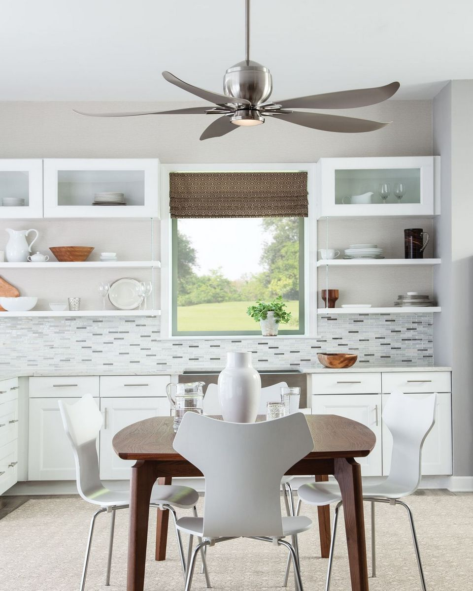 Monte Carlo 56 Quot Lily Damp Rated Ceiling Fan In Brushed