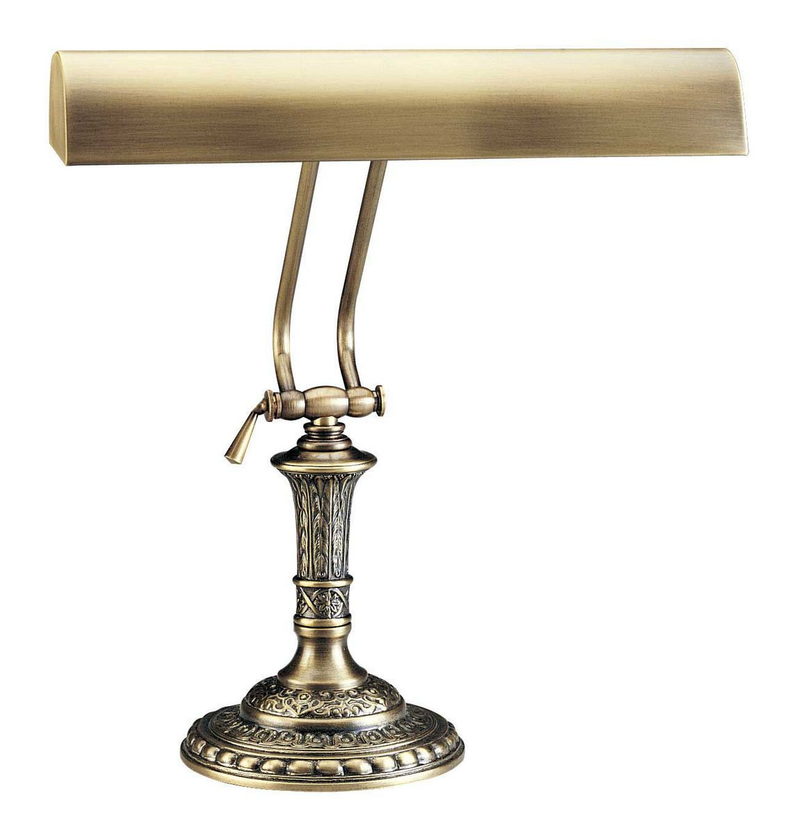 House Of Troy 14 Piano Desk Lamp In Antique Brass Finish
