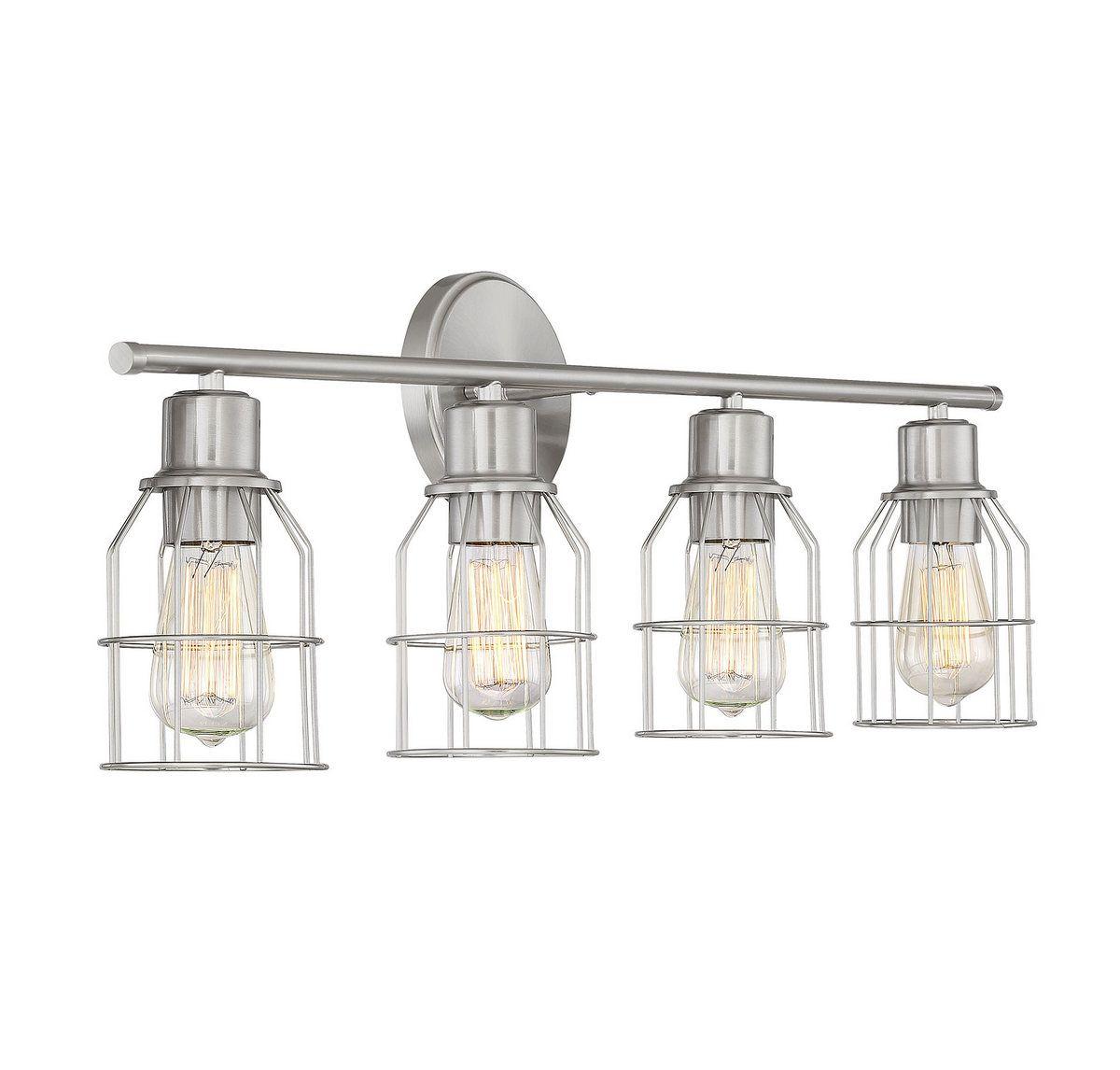 Trade Winds Lighting Industrial Wire 4-Light Bathroom ...