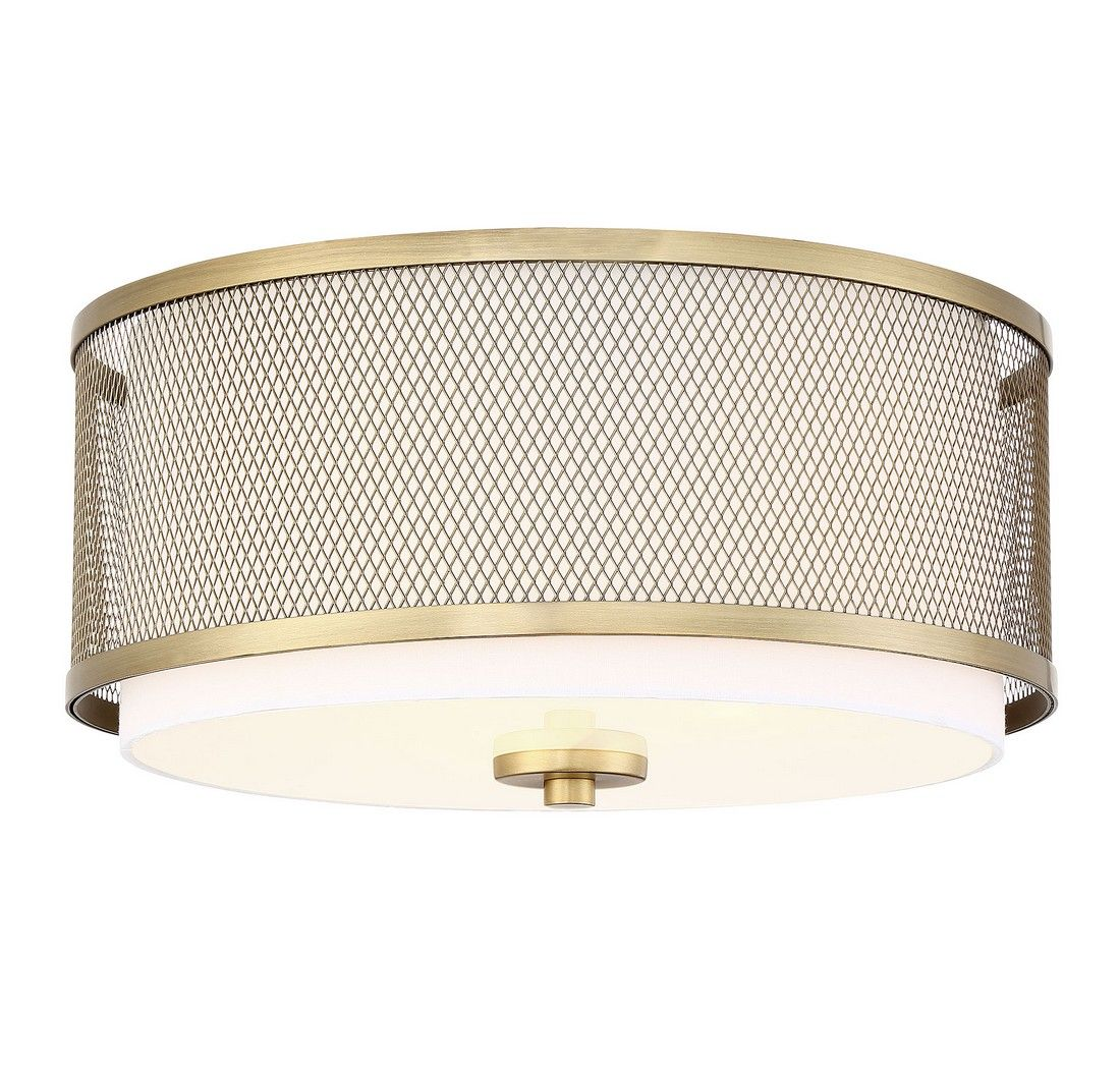 Large Flush Mount Ceiling Light In Natural Br Tap To Expand