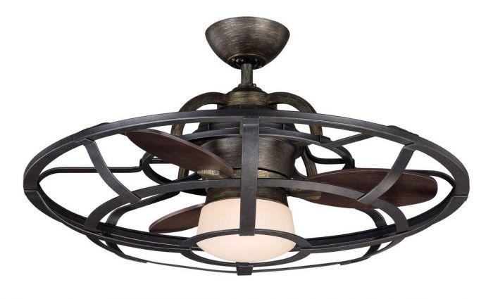 Savoy House Alsace Fan D'Lier in Reclaimed Wood