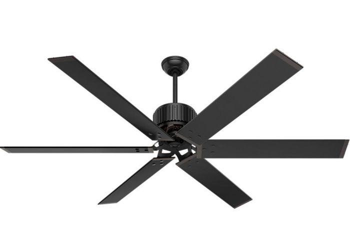 """Hunter 72"""" Indoor/Outdoor Ceiling Fan in Matte Black"""