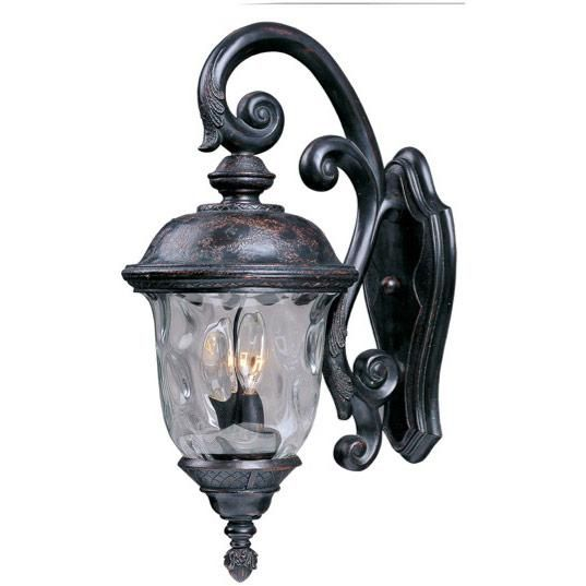 Maxim Lighting Carriage House DC 3-Light Outdoor Wall Lantern in Oriental Bronze