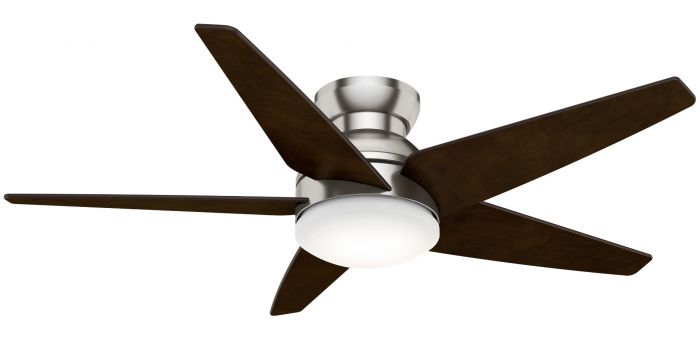 """Casablanca Isotope 52"""" 2-Light LED Indoor Ceiling Fan in Nickel/Chrome"""