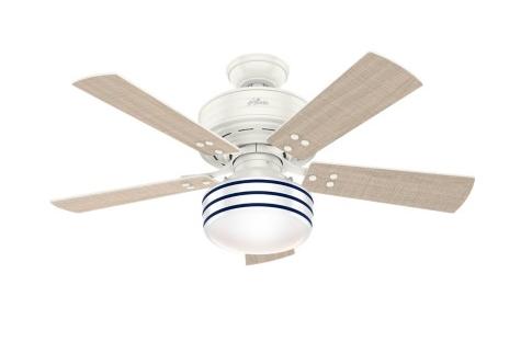"""Hunter Cedar Key 44"""" 1-Light Ceiling Fan in Fresh White"""