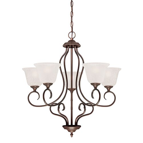 Lighting Cleveland: Millennium Lighting Cleveland 5-Light Chandelier In Rubbed