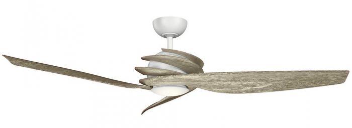 """Kichler Spyra 62"""" LED Ceiling Fan in Matte White"""