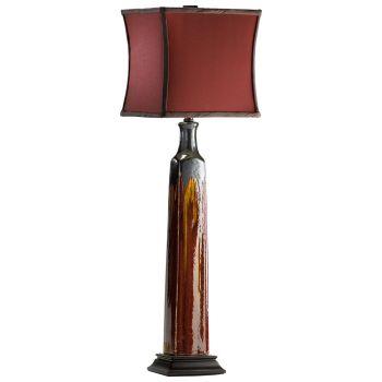 """Cyan Design Golden Buffet 30.75"""" Brown Fabric Shade Lamp in Golden Bronze"""