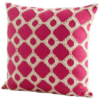 "Cyan Design Repeat After Me 18"" Pillow in Pink"