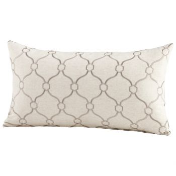 "Cyan Design Linked Love 24"" Pillow in Silver"