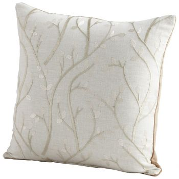 "Cyan Design Stem The Flow 18"" Pillow in Silver"