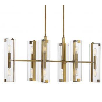 Savoy House Winfield 12-Light Chandelier in Warm Brass