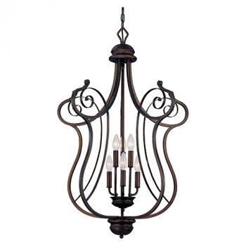 Millennium Lighting Chateau 6-Light Foyer/Hall Lantern in Rubbed Bronze