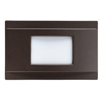 "Kichler Step & Hall 5"" 4-Light 3000K LED Step in Architectural Bronze"