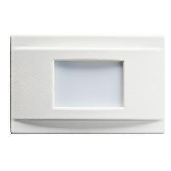 """Kichler Step & Hall 5"""" 4-Light 3000K LED Step in White"""