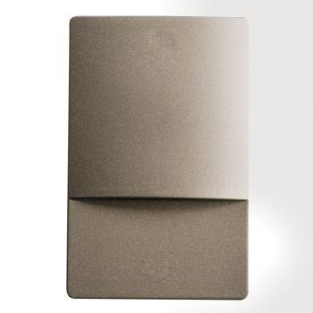 """Kichler Step & Hall 3.25"""" 4-Light 3000K LED Step in Brushed Nickel"""
