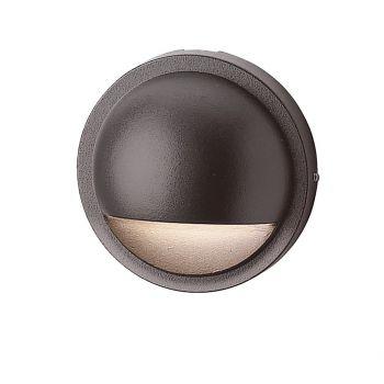 "Kichler Six Groove 4"" 12V Half Moon Deck in Textured Architectural Bronze"