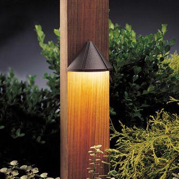 "Kichler Six Groove 4"" 12V Deck Fixture in Textured Architectural Bronze"