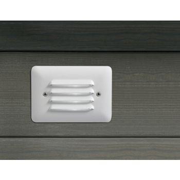 """Kichler Landscape 5"""" 12V Step Light in Textured White"""