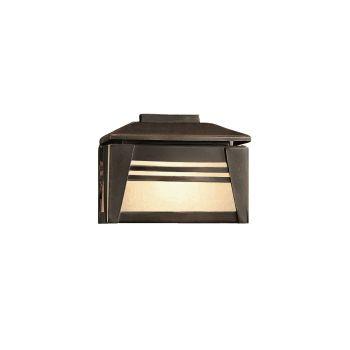 Kichler Zen Garden Amber Seedy Linen Glass Deck Light in Olde Bronze