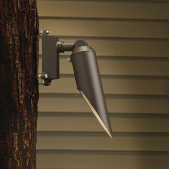 """Kichler Landscape 10"""" Downlight in Textured Architectural Bronze"""