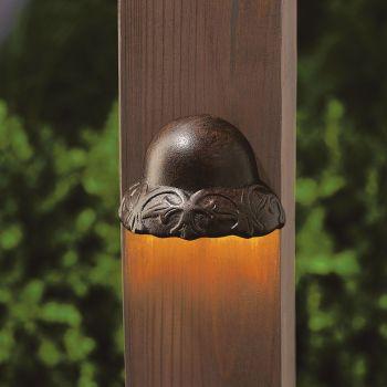 Kichler Landscape LED 3000K Deck Light in Textured Tannery Bronze