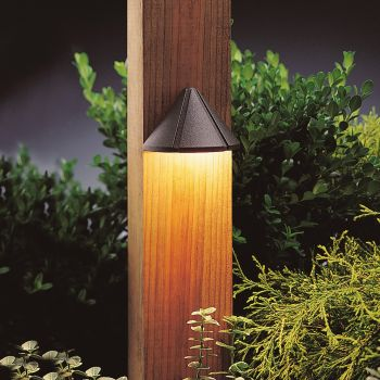 "Kichler Landscape 3.75"" 2700K LED Deck in Textured Architectural Bronze"