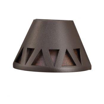 Kichler Overlay 2700K LED Deck Light in Textured Architectural Bronze