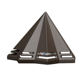 Kichler Perforated 2700K LED Deck Light in Textured Architectural Bronze