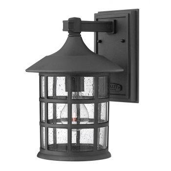 "Hinkley Freeport Outdoor 12"" Medium Wall Lantern in Black"