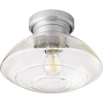 """Quorum Windmill 11"""" Indoor/Outdoor Ceiling Fan Light Kit in Galvanized"""