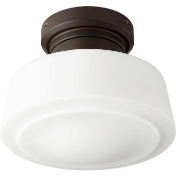 """Quorum Windmill 9"""" Indoor/Outdoor Ceiling Fan Light Kit in Oiled Bronze"""